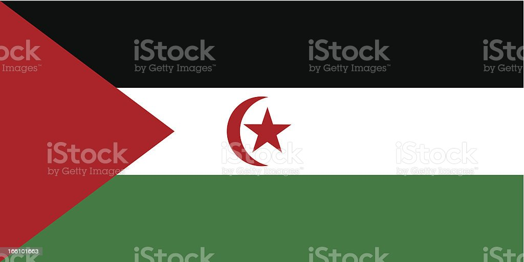 Sahrawi Arab Democratic Republic Flag vector art illustration