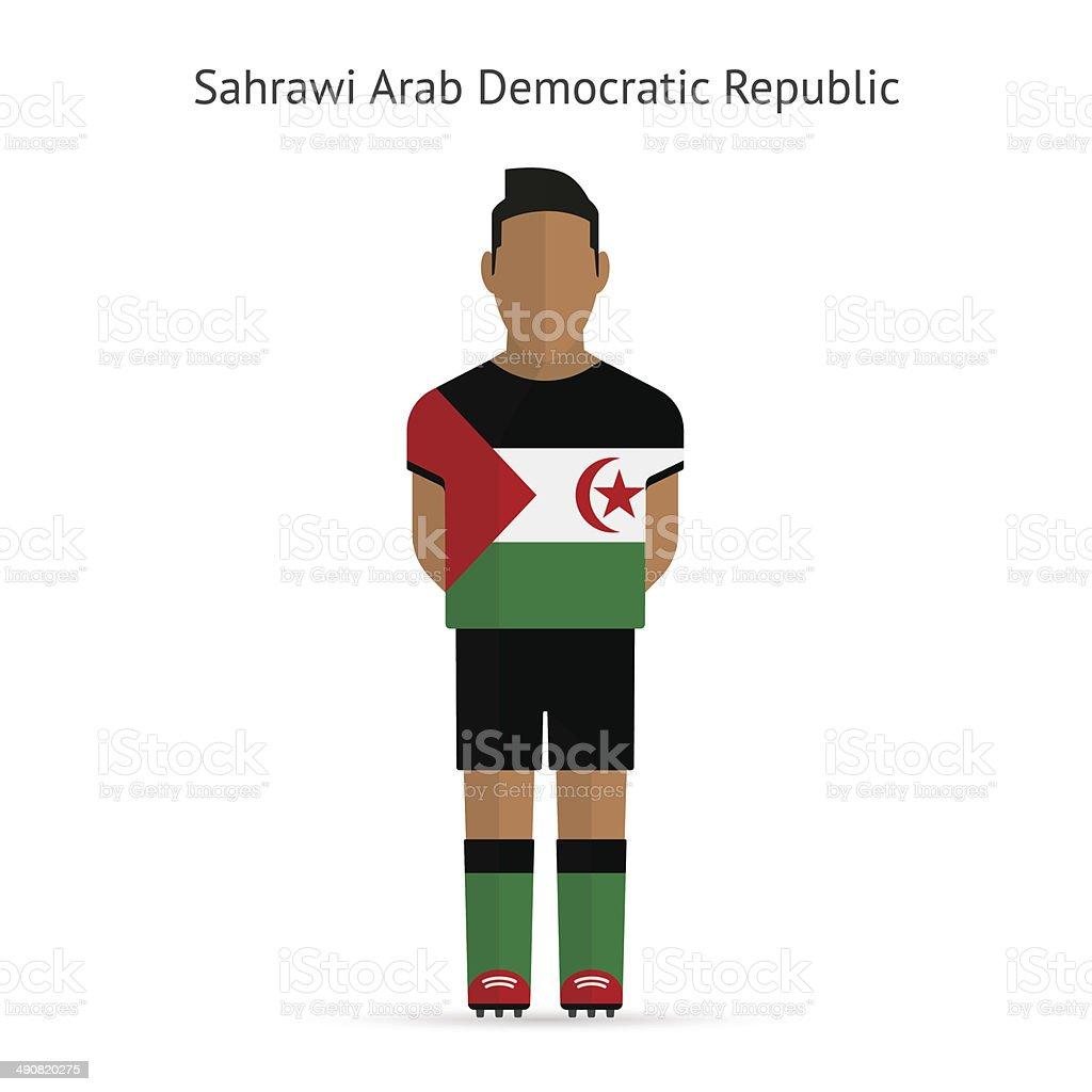 Sahrawi Arab Democratic Republic football player. vector art illustration