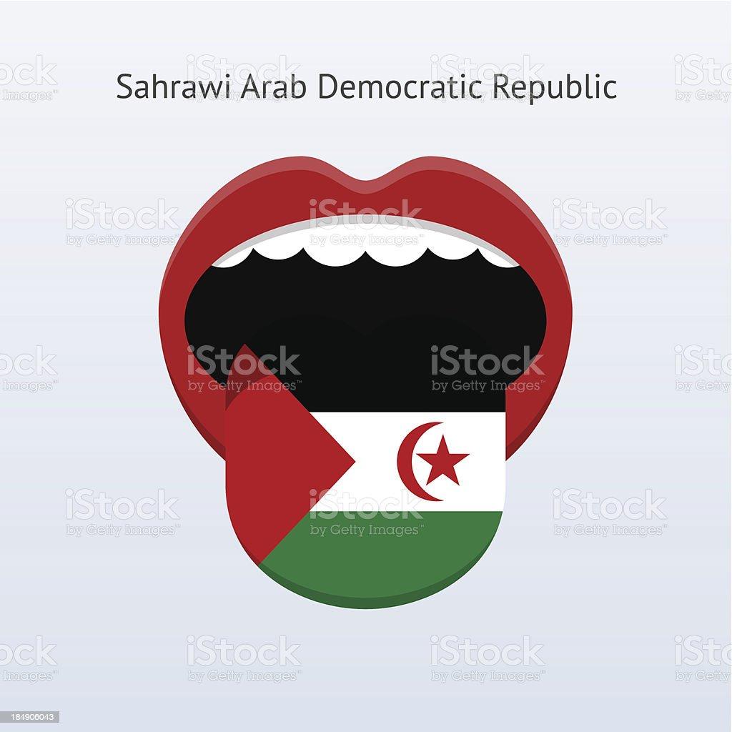 Sahrawi Arab Democratic Republic language. vector art illustration