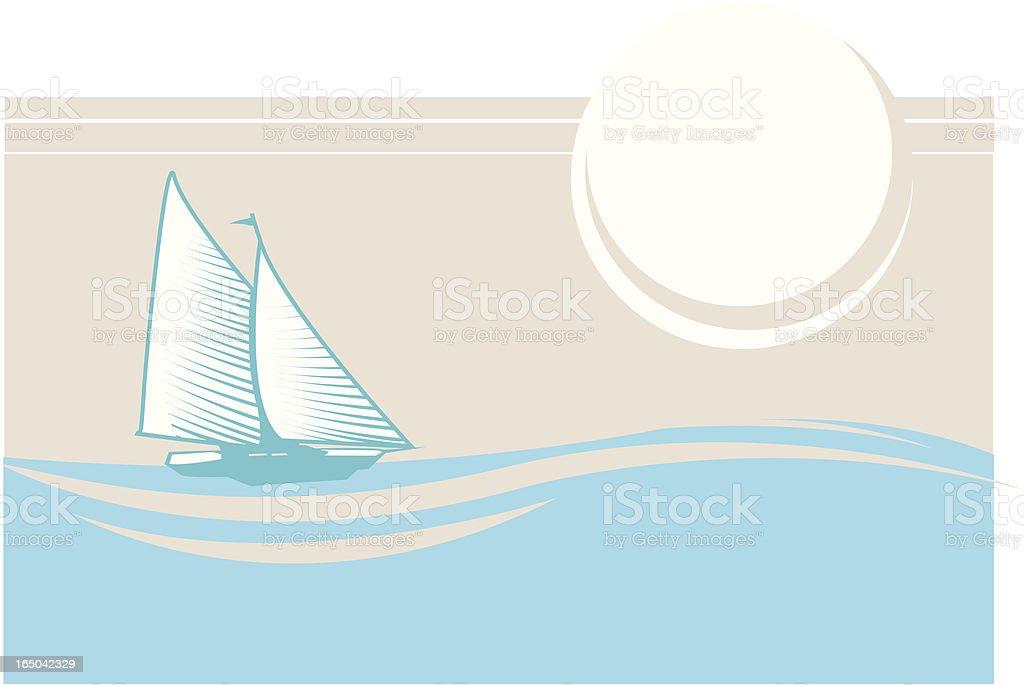 sail away royalty-free stock vector art