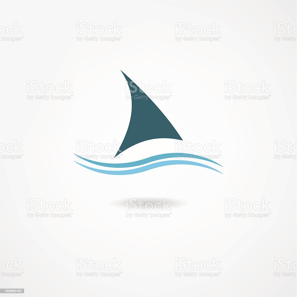 sail icon royalty-free stock vector art