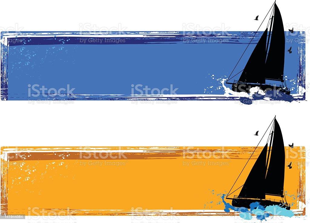 sailboat banner royalty-free stock vector art