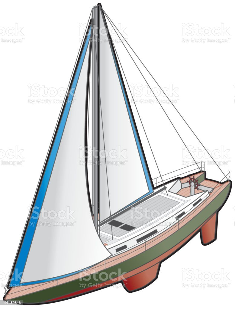 Sailboat Icon. Design Elements royalty-free stock vector art