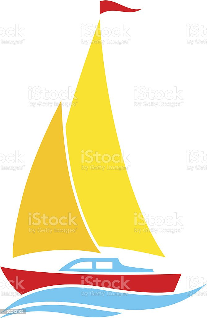Sailboat icon vector art illustration