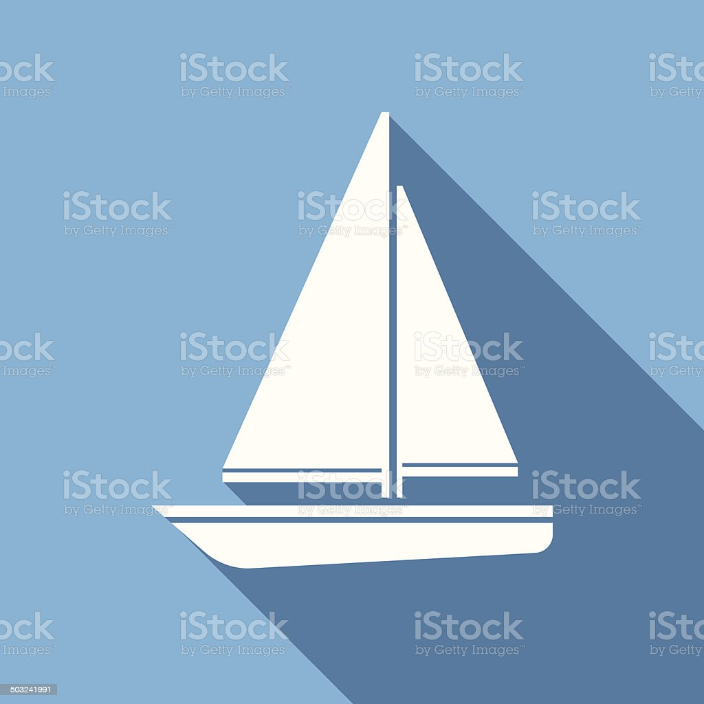 sailboat icon vector art illustration