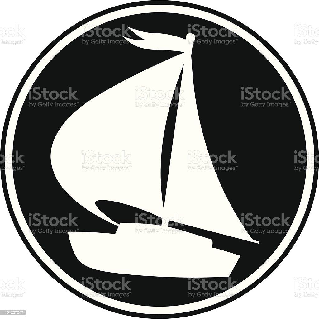 Sailboat Symbol vector art illustration