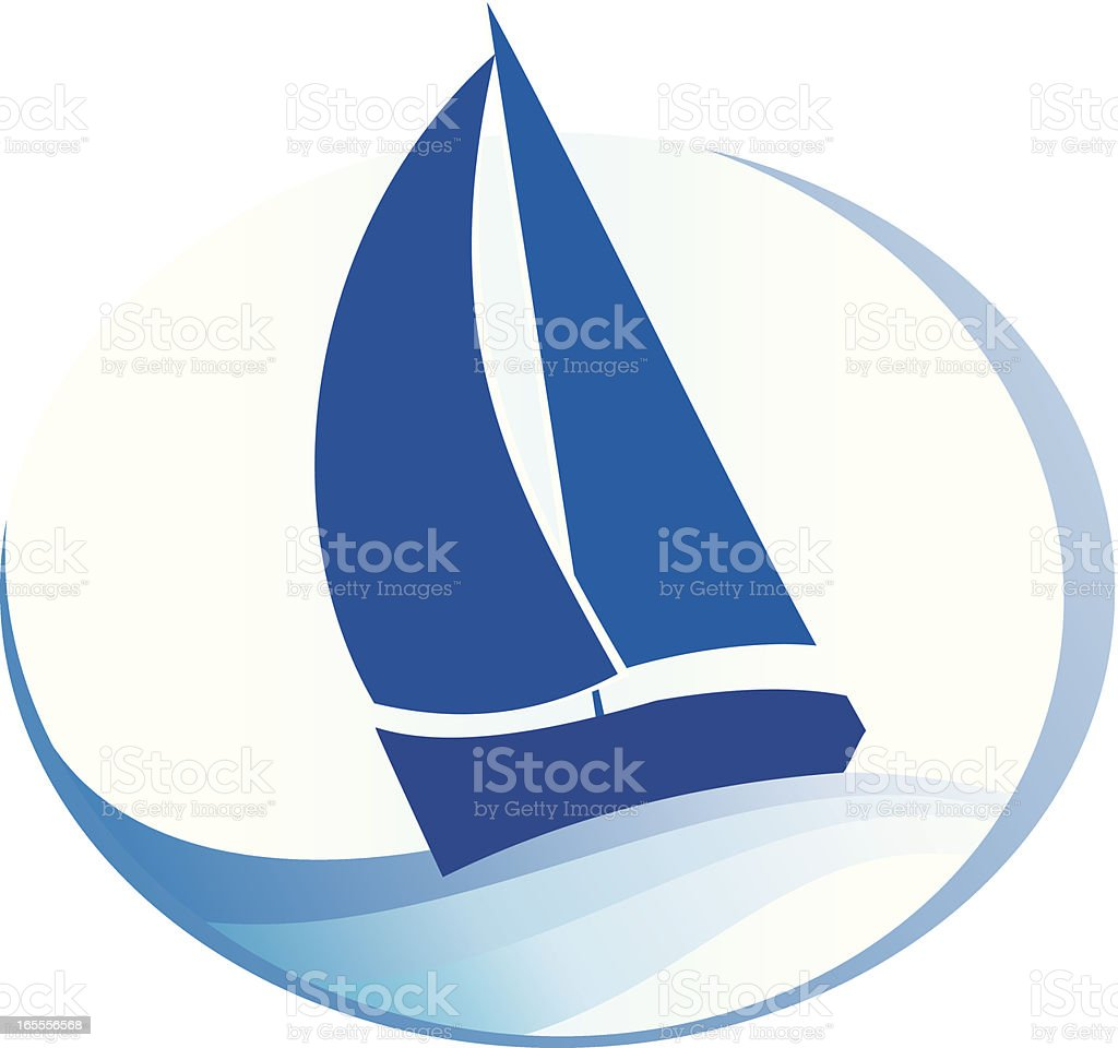 Sailboat royalty-free stock vector art