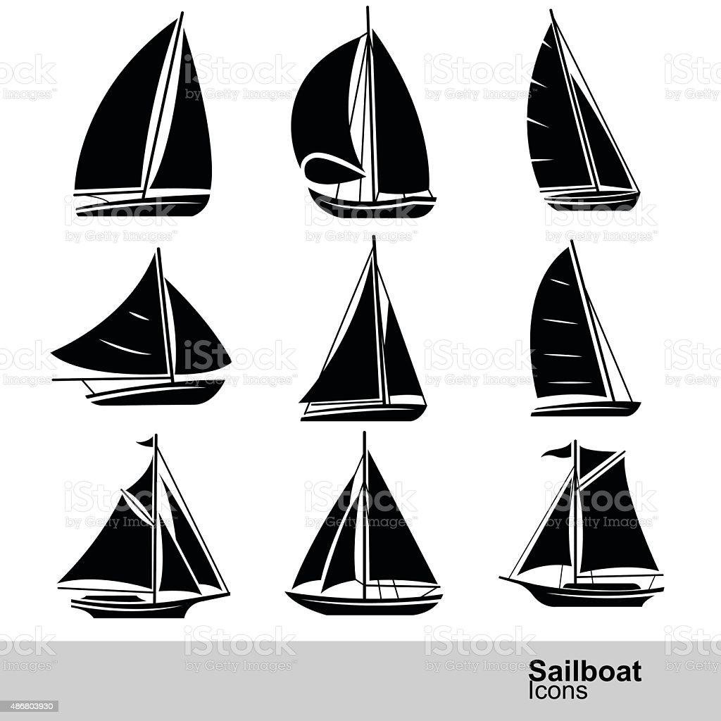 Sailboat vector vector art illustration