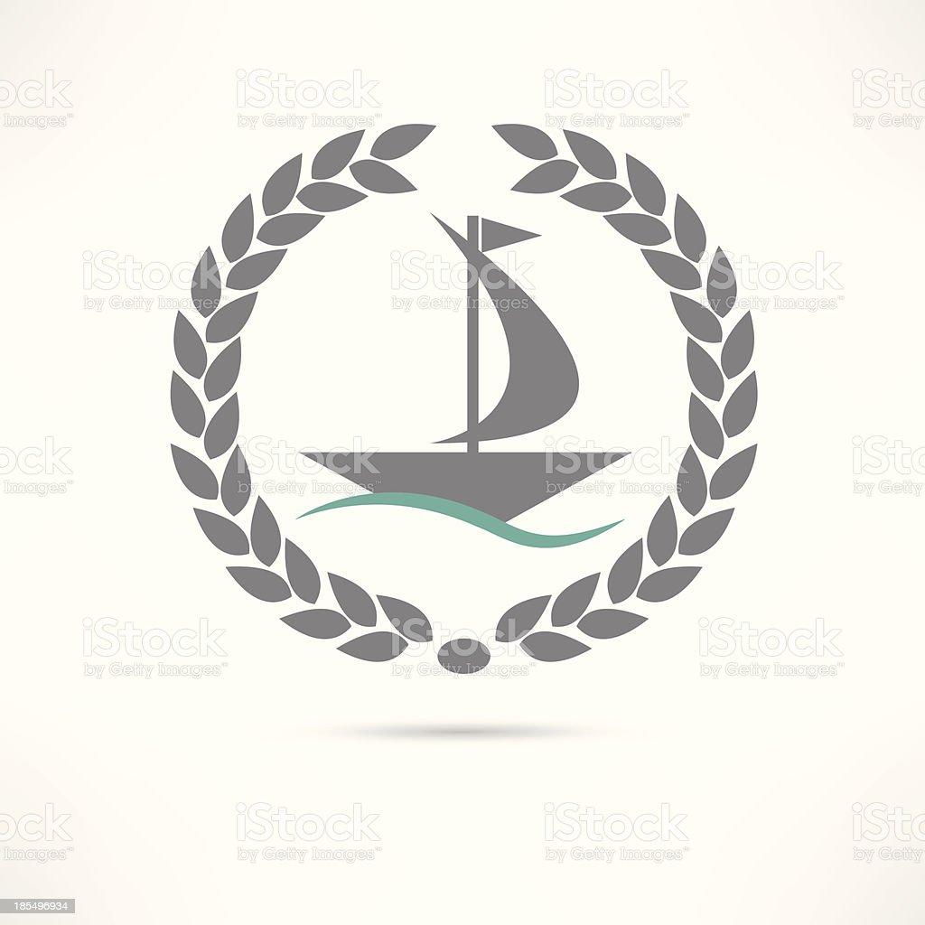 sailfish icon vector art illustration