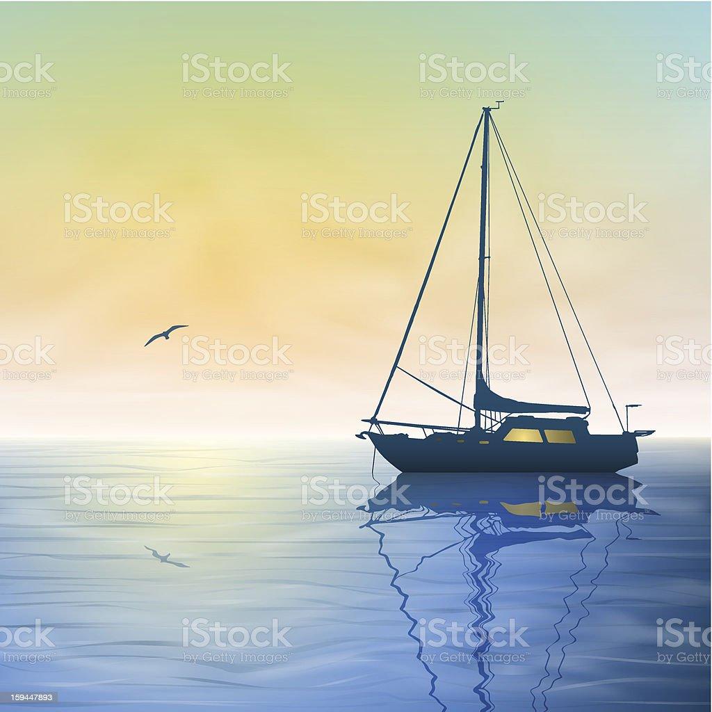 Sailing Boat royalty-free stock vector art