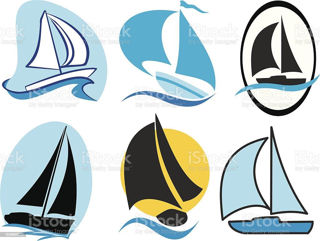 sailing icons royalty-free stock vector art