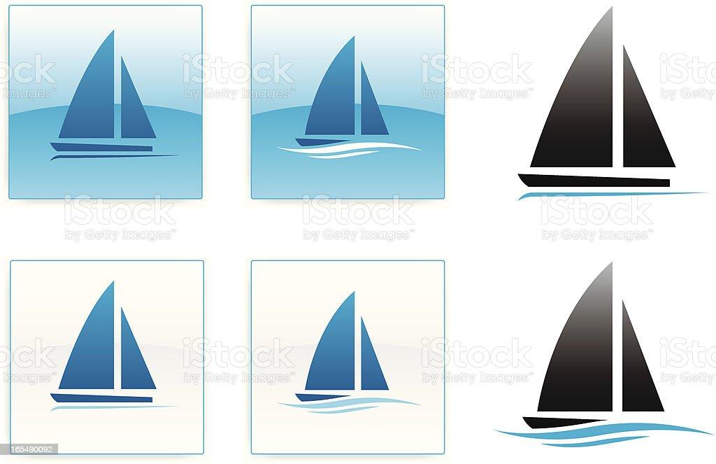 Sailing icons vector art illustration