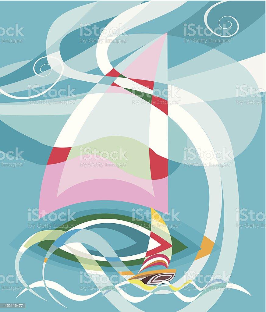 Sailing race illustration royalty-free stock vector art
