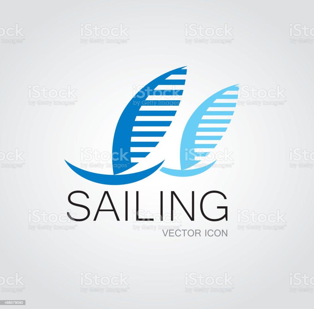 Sailing sign vector art illustration