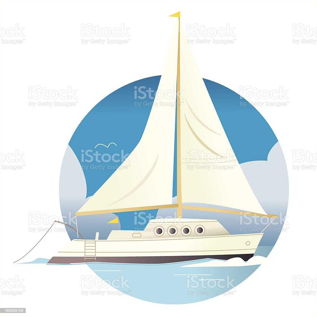Sailing royalty-free stock vector art