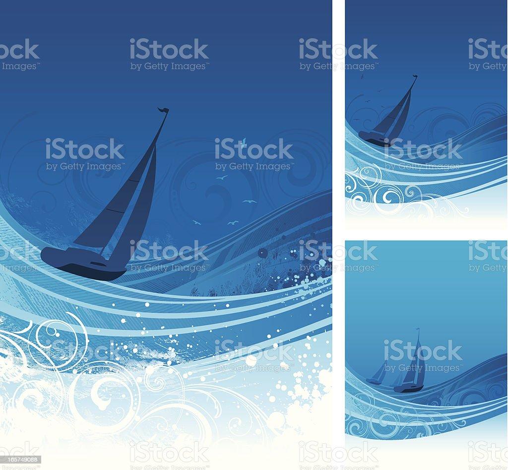 Sailing royalty-free stock vector art