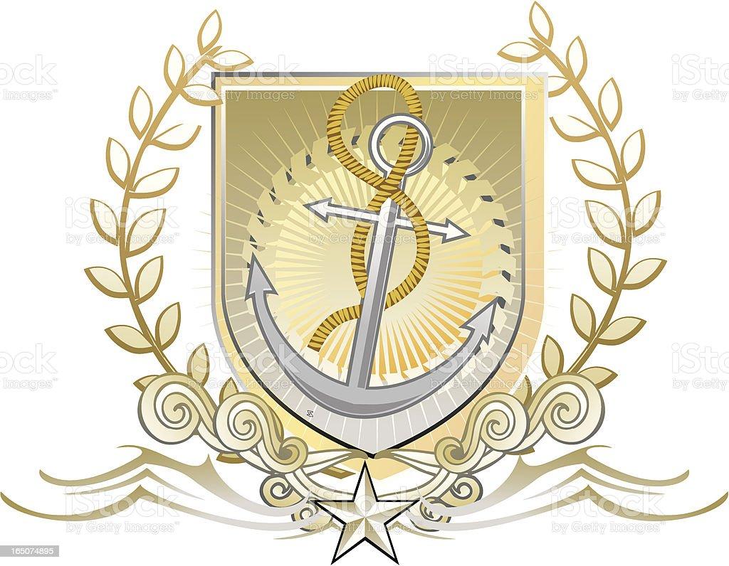 sailor anchor emblem royalty-free stock vector art