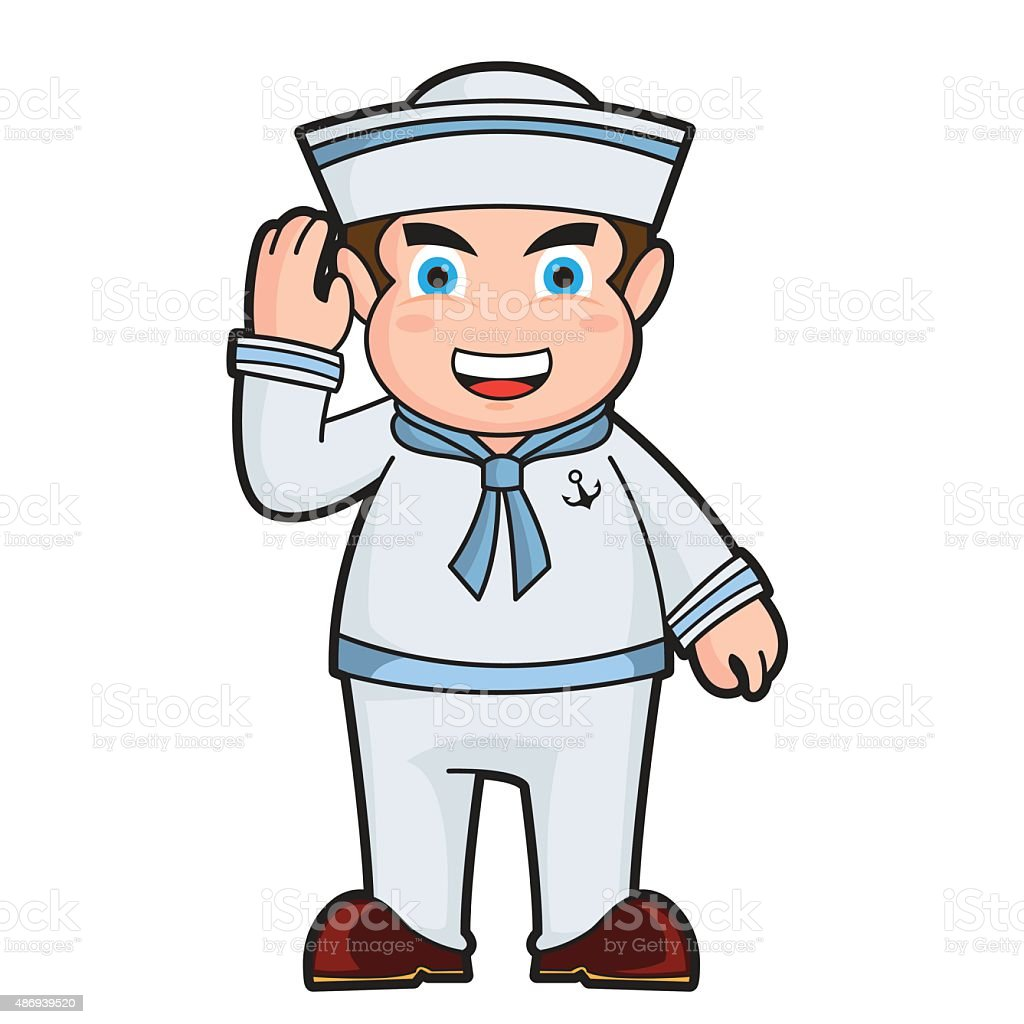 Sailor stock photos illustrations and vector art - 2015 Adult Animated Cartoon Computer Graphic Illustration Sailor Cartoon Royalty Free Stock Vector Art