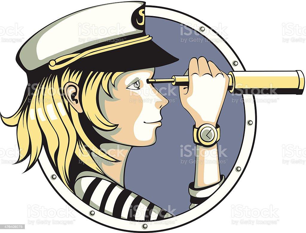 Sailor girl royalty-free stock vector art