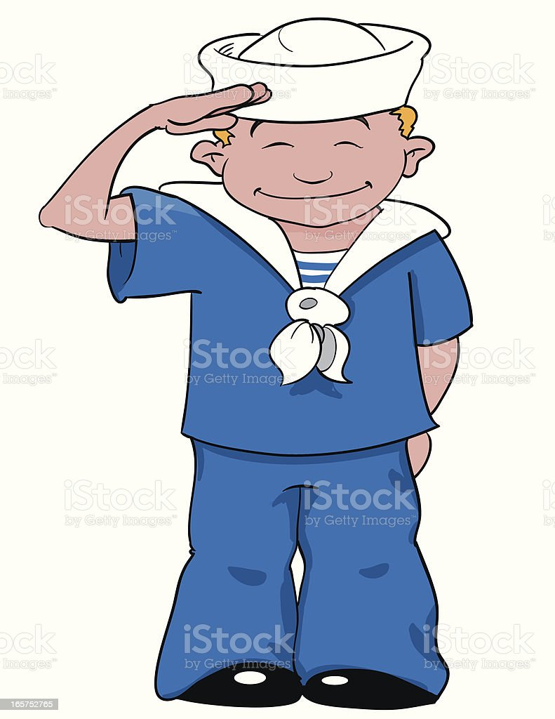 Sailor salut royalty-free stock vector art