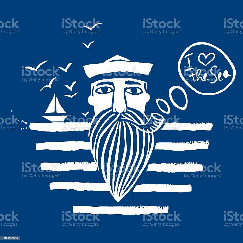 Sailor vector art illustration