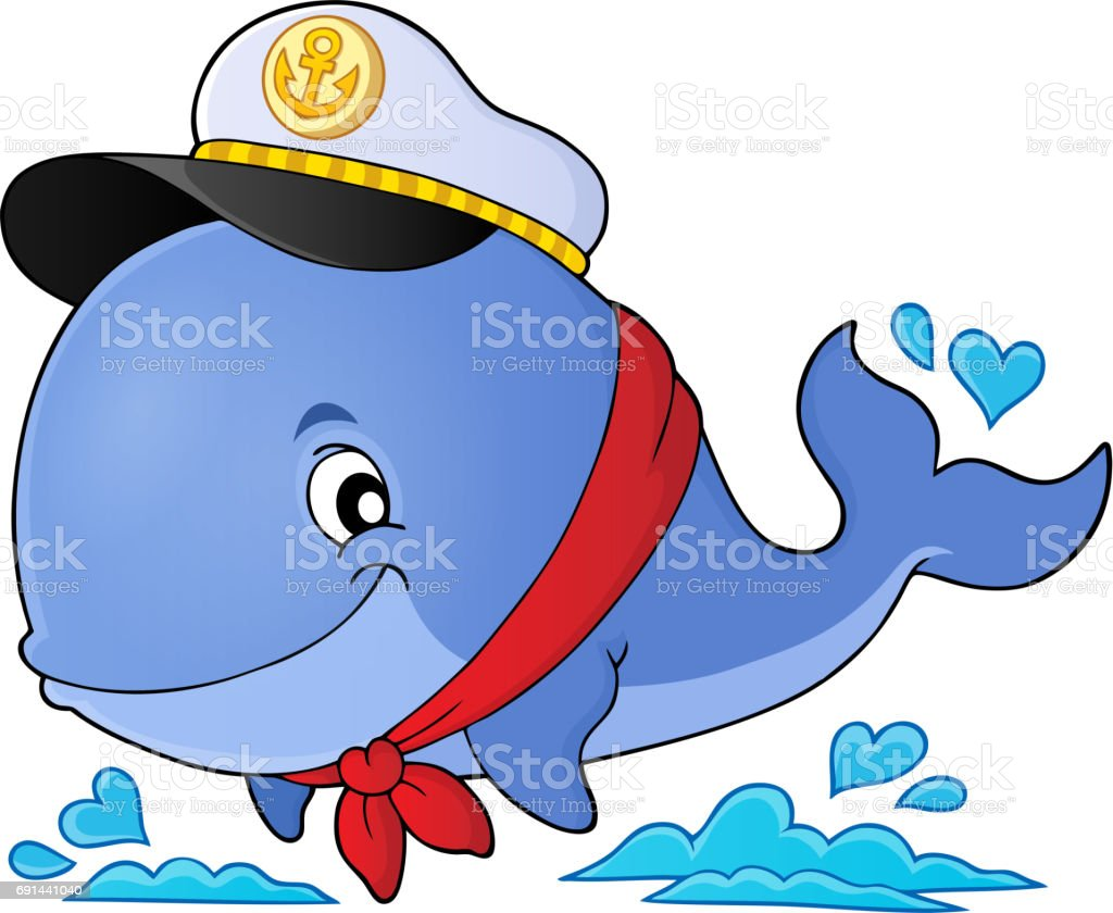 Sailor stock photos illustrations and vector art - Sailor Whale Theme Image 1 Royalty Free Stock Vector Art