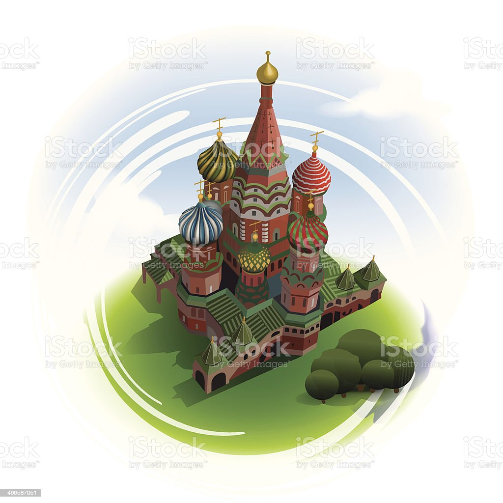 Saint Basil's Cathedral vector art illustration