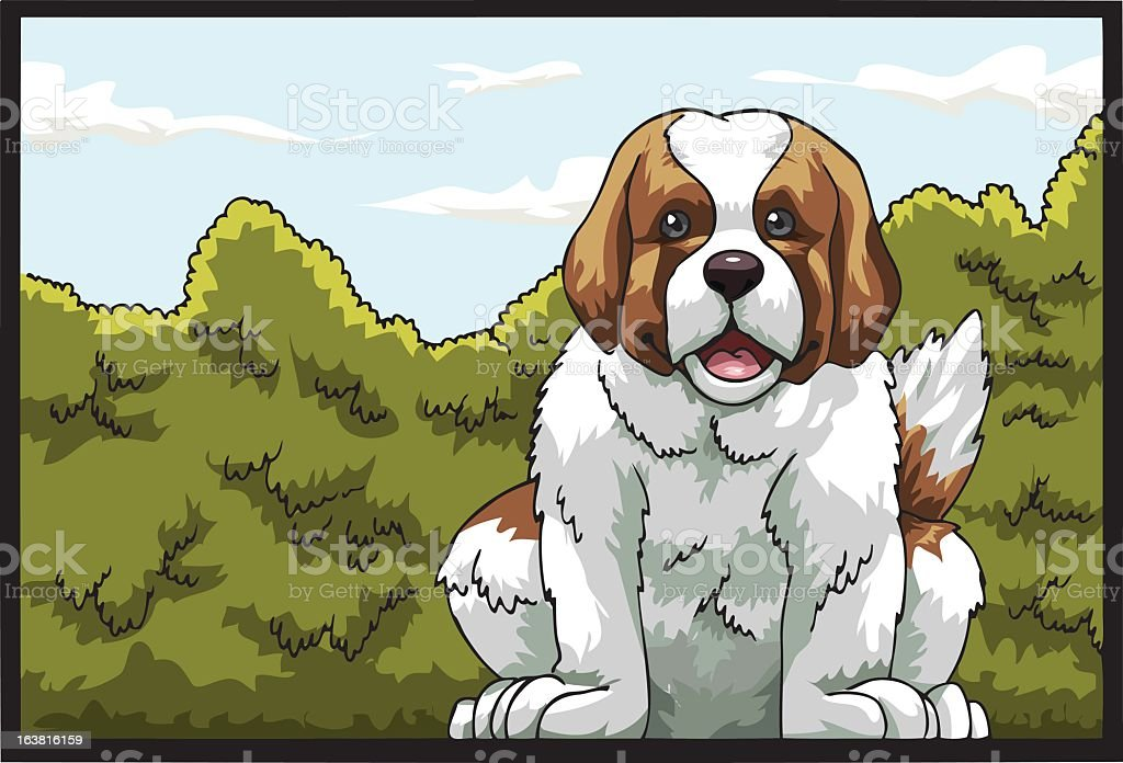 Saint Bernard Dog royalty-free stock vector art