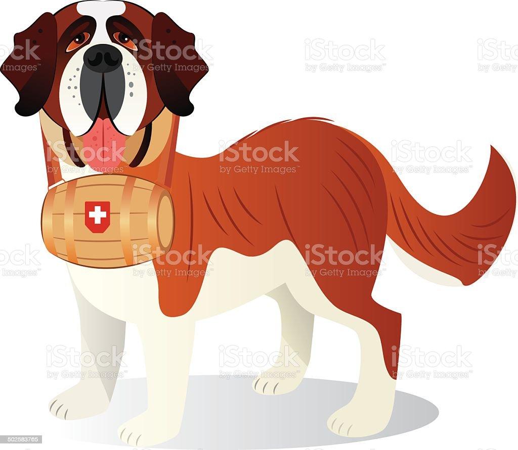 Saint Bernard vector art illustration