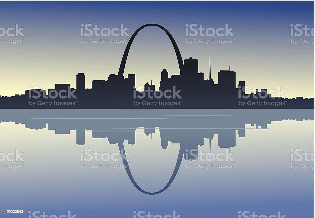 Saint Louis Downtown Riverfront vector art illustration