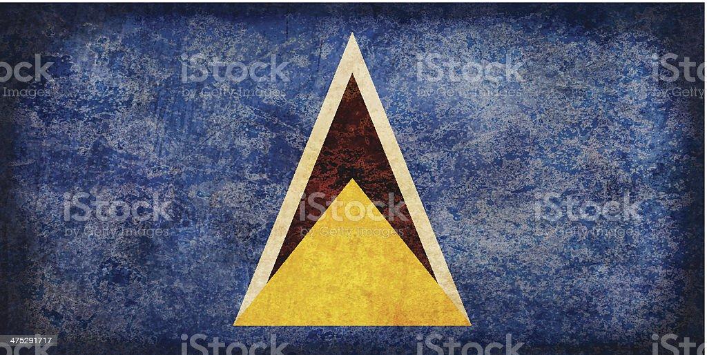 Saint Lucia grunge flag royalty-free stock vector art