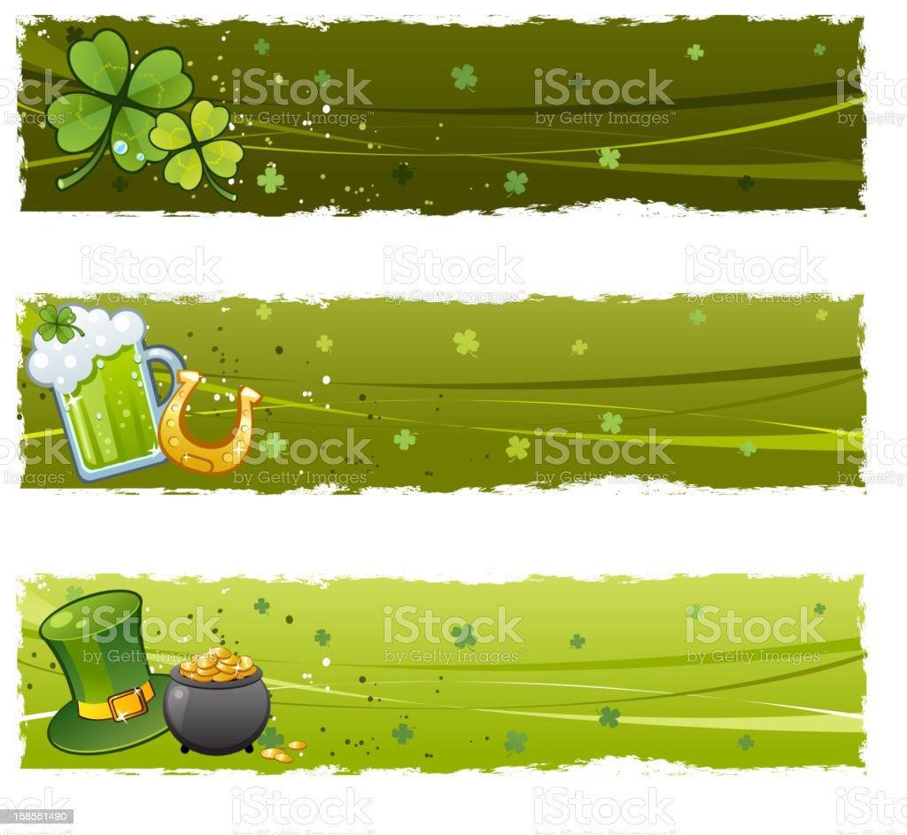 Saint Patric Day banners vector art illustration