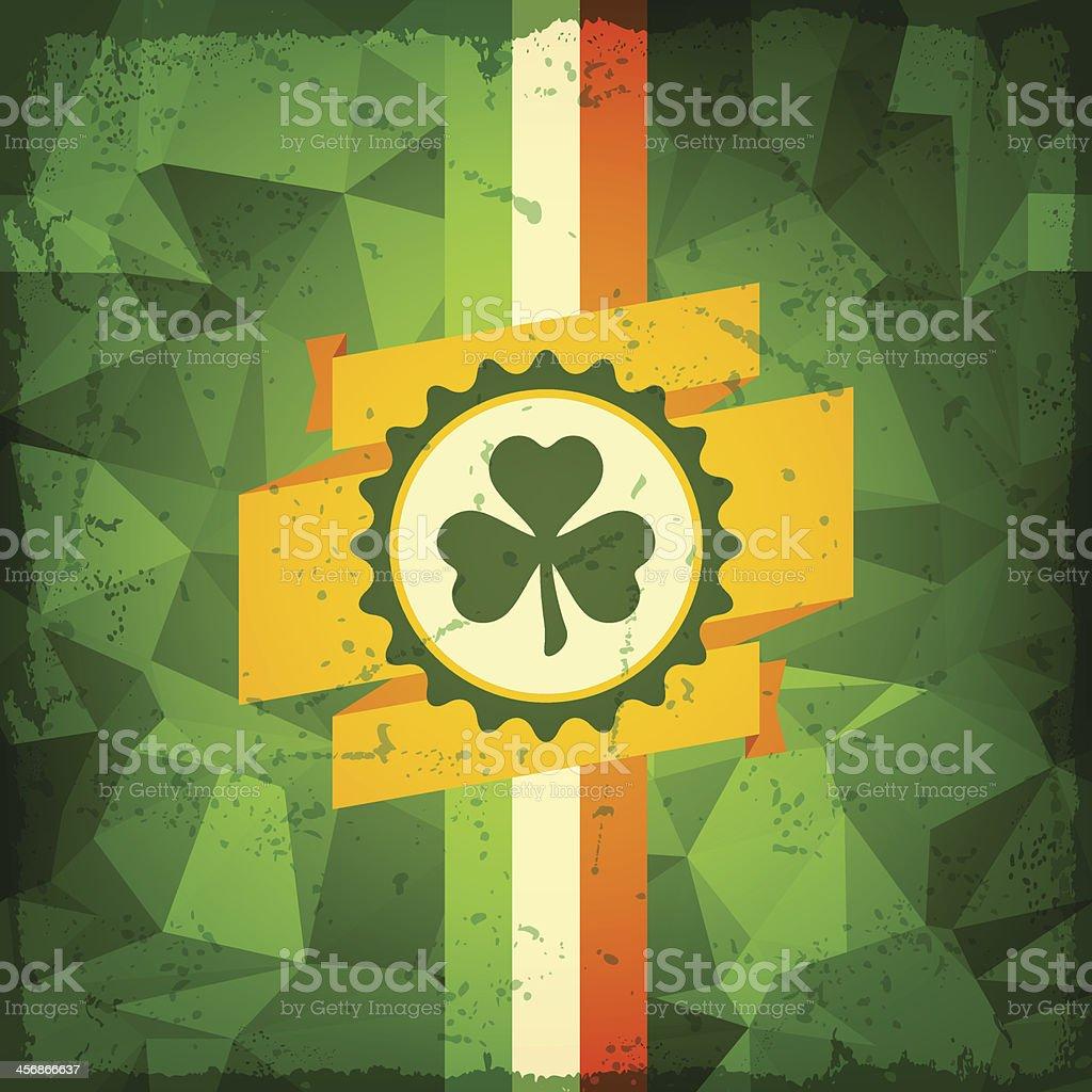 Saint Patrick's Day abstract grunge background. vector art illustration