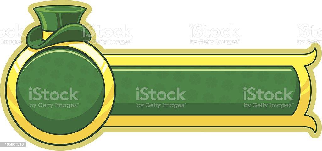 Saint Patrick`s day banner royalty-free stock vector art