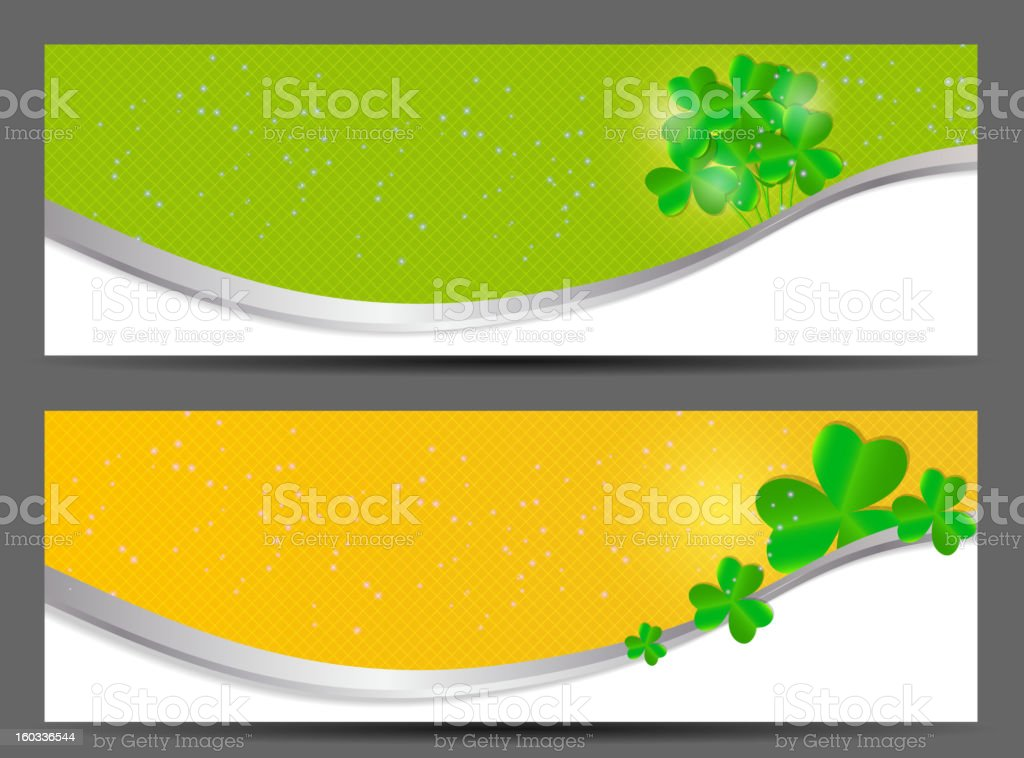 Saint Patrick`s day banner vector illustration royalty-free stock vector art
