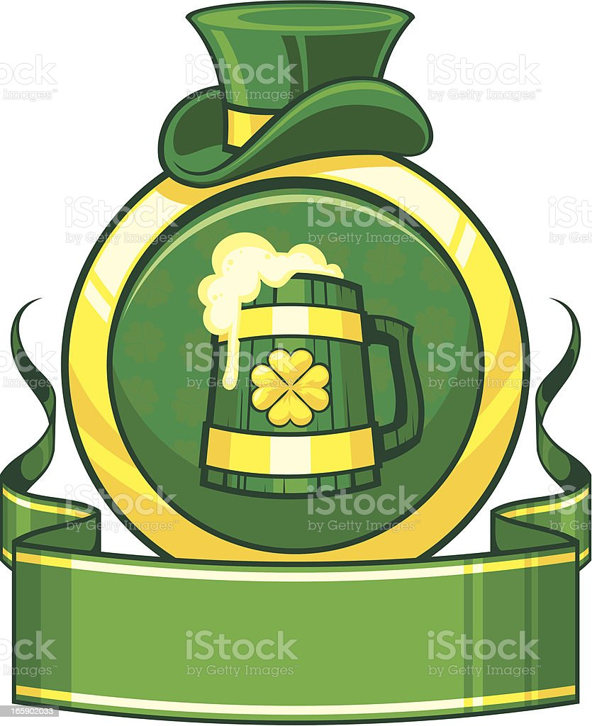 Saint Patrick`s day banner with beer royalty-free stock vector art