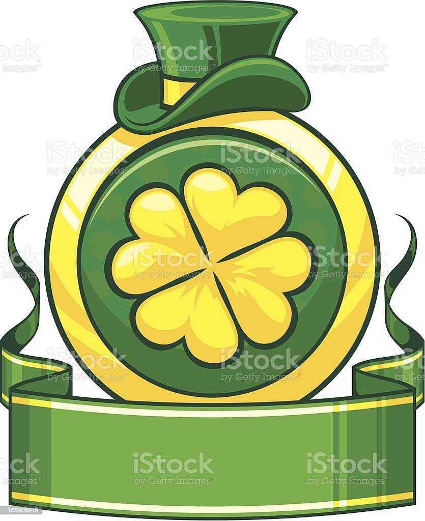 Saint Patrick`s day banner with clower royalty-free stock vector art