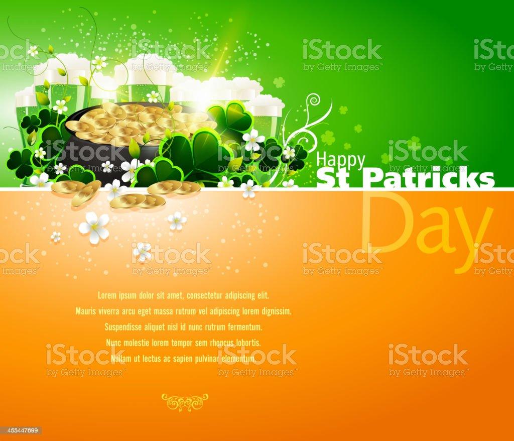 Saint Patrick's day card template vector art illustration