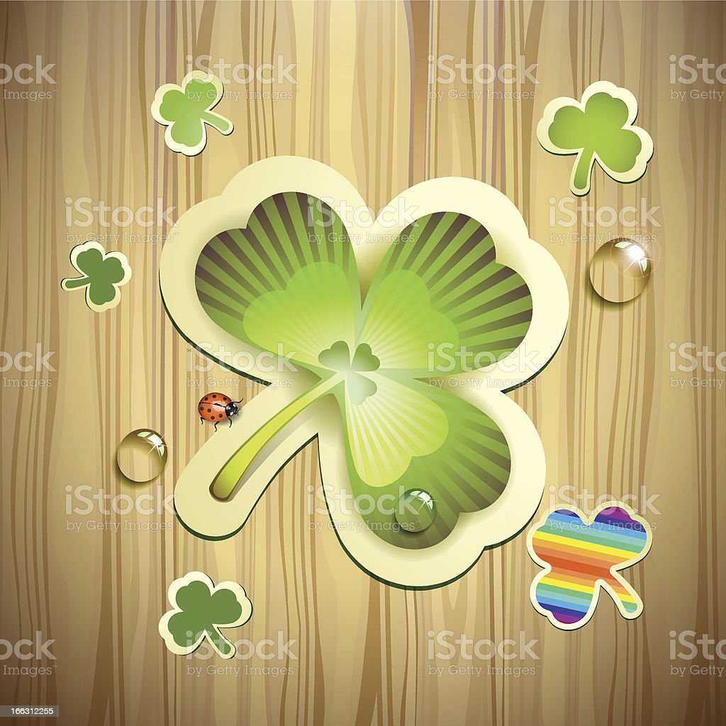 Saint Patrick's Day card royalty-free stock vector art