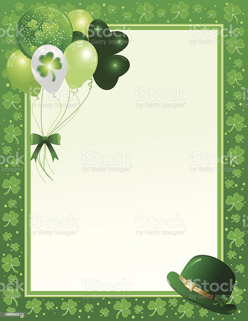 Saint Patrick's Day Frame royalty-free stock vector art