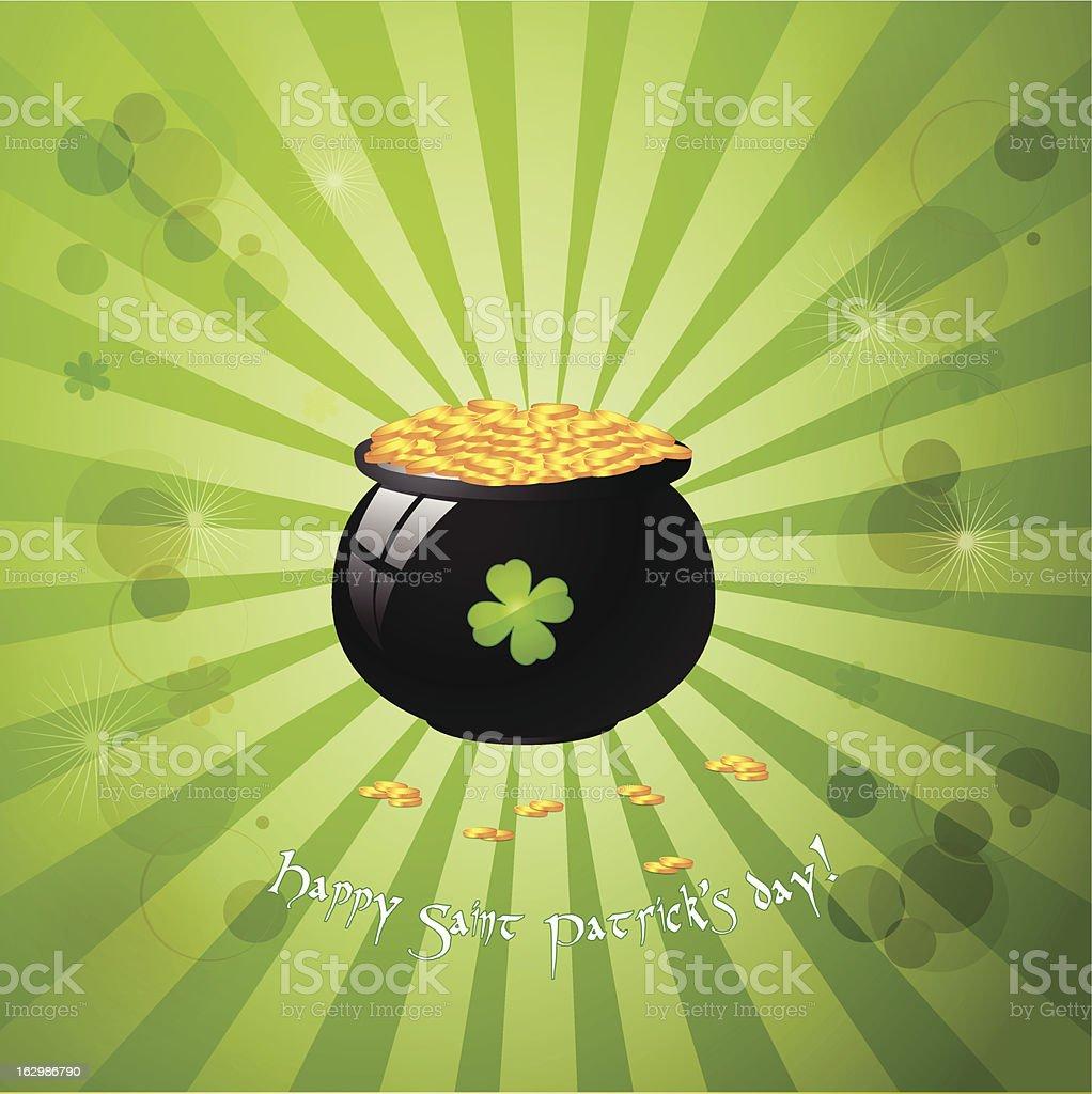 Saint Patrick's day greeting card royalty-free stock vector art