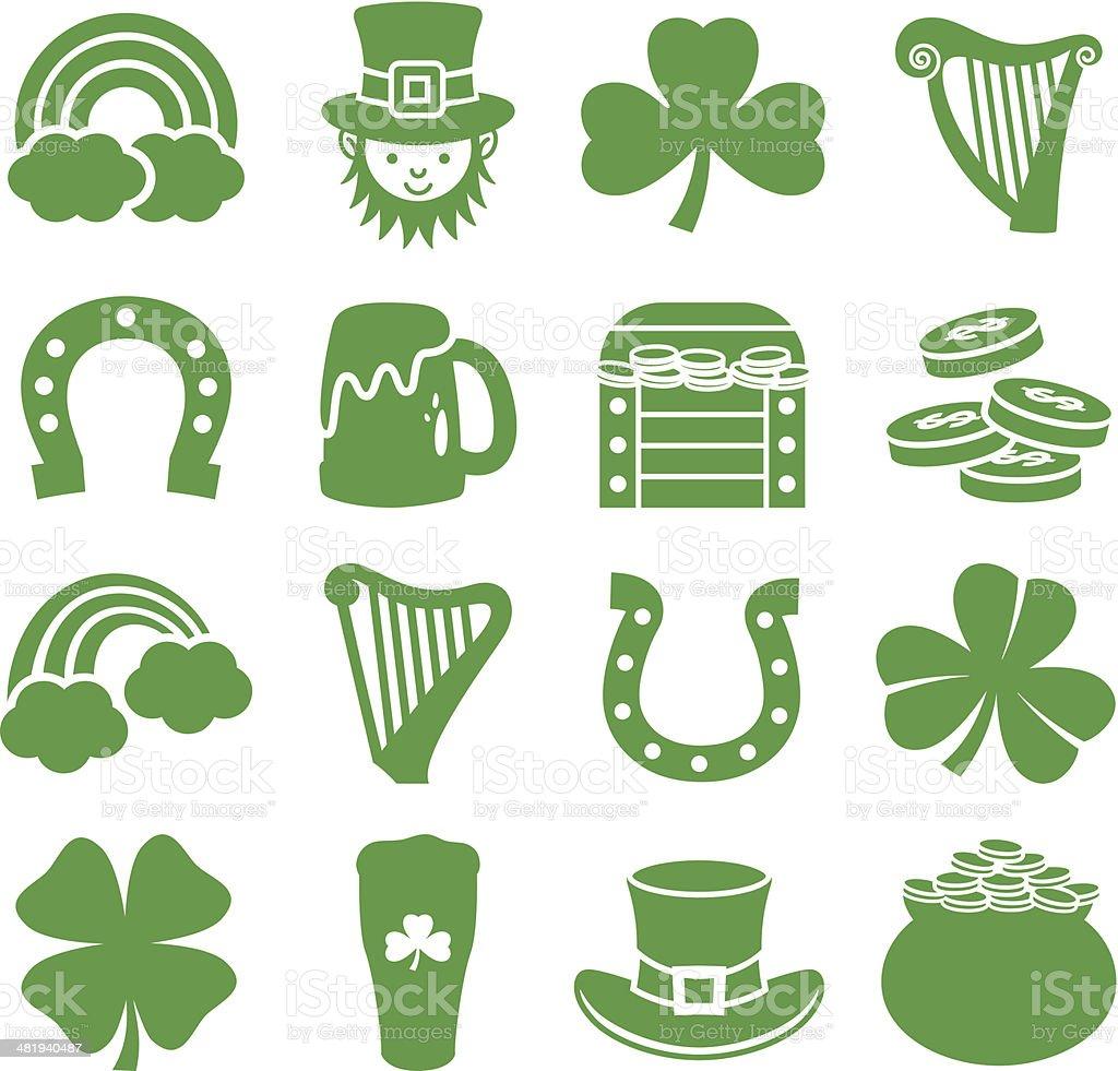 Saint Patricks Day - Icons Set vector art illustration