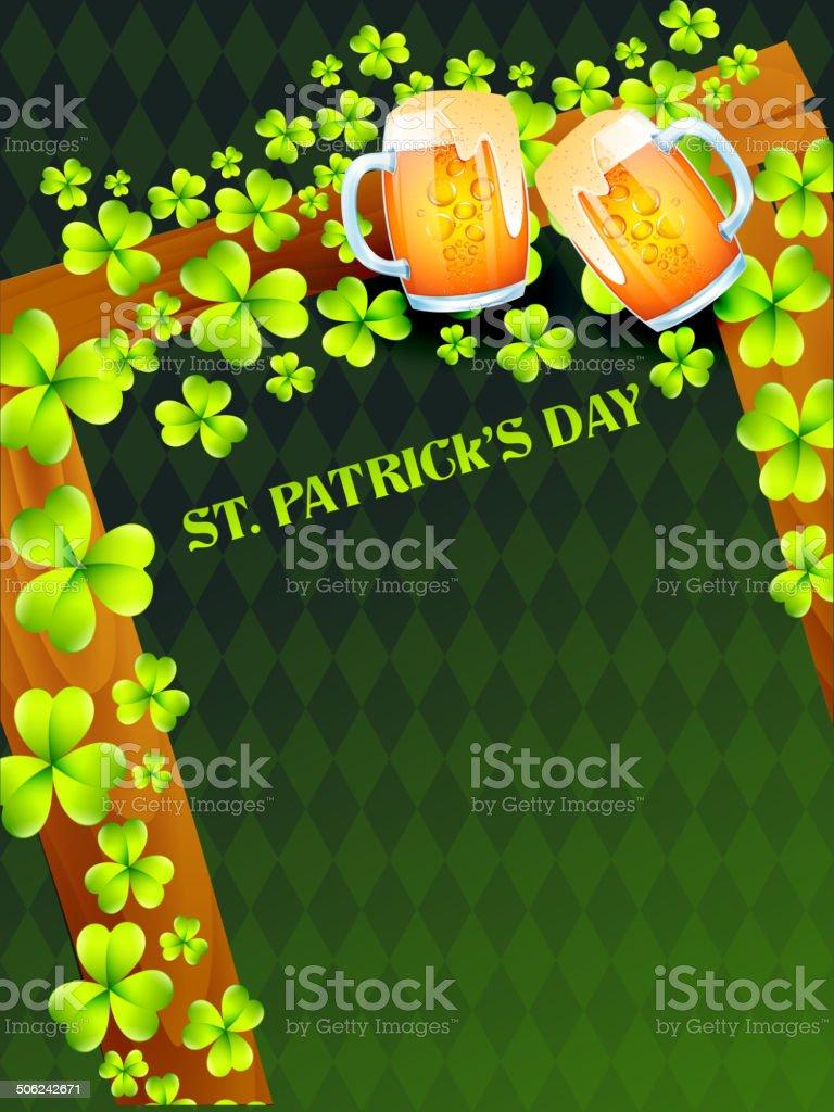 saint patrick's day illustration vector art illustration