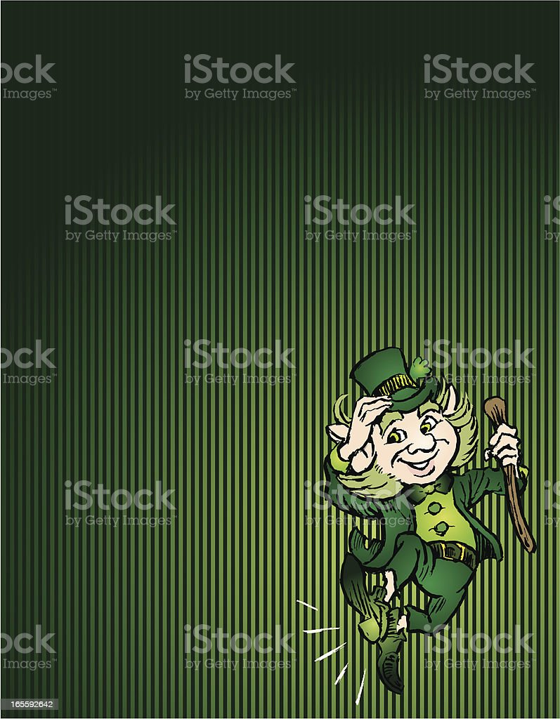 Saint Patrick's Day Leprechaun and Background royalty-free stock vector art