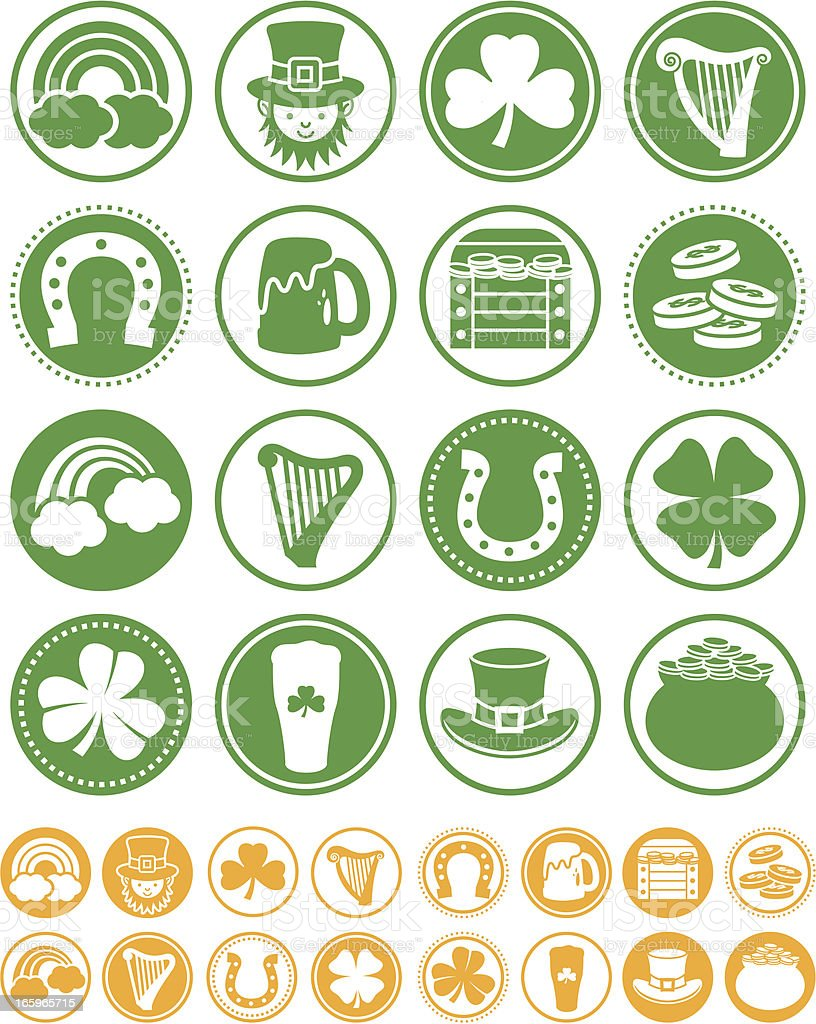 Saint Patrick's Day - Seals Collection royalty-free stock vector art