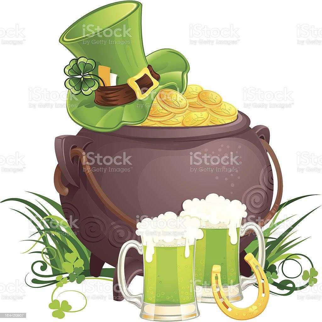 Saint Patrick's Day symbols royalty-free stock vector art