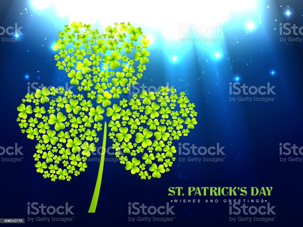 saint patrick's day vector art illustration