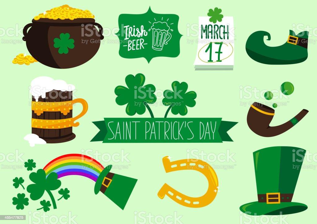 Saint Patricks elements royalty-free stock vector art