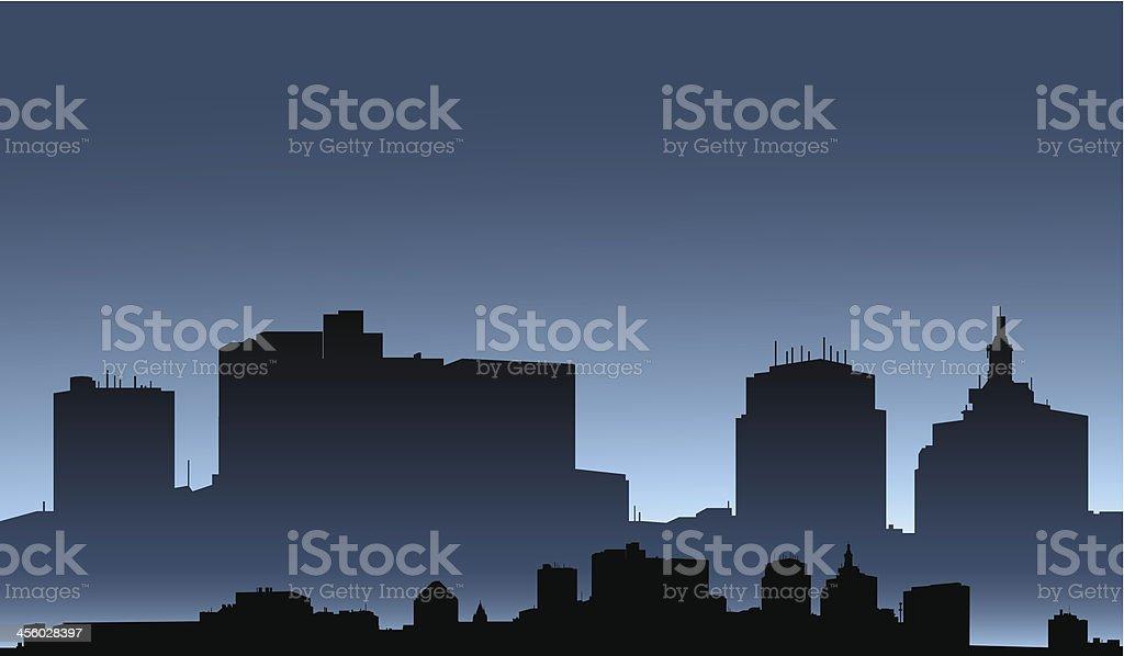 Saint Paul Skyline royalty-free stock vector art