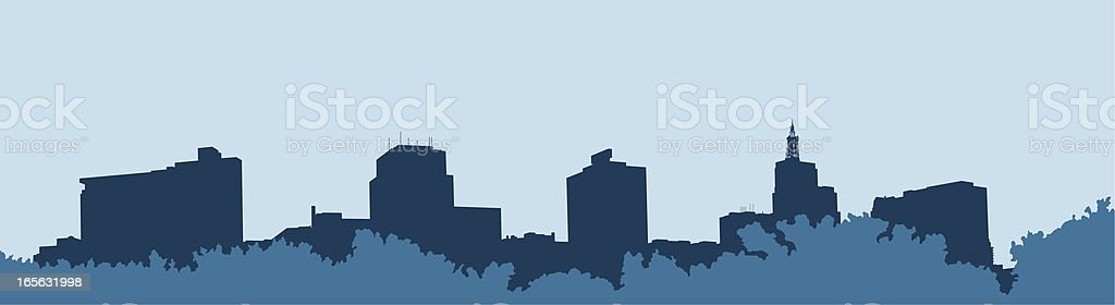 Saint Paul Skyline with Trees vector art illustration